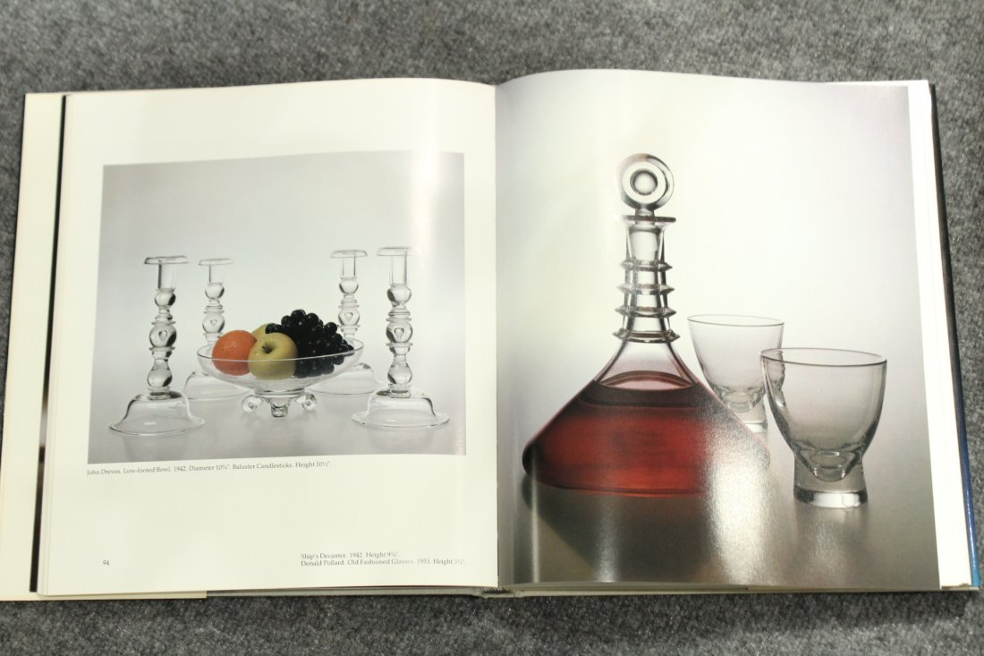 6 ASSORTED PIECES OF STEUBEN GLASS VASES w/ BOOK - 6