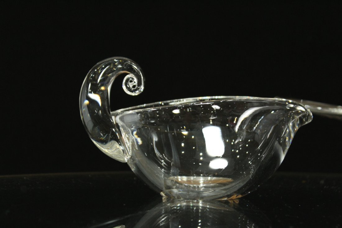 3 ASSORTED QUALITY STEUBEN GLASS BOWL, CREAMER, NAPPY - 2