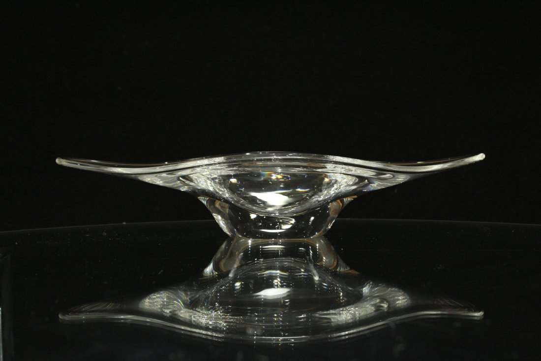 3 ASSORTED QUALITY STEUBEN GLASS BOWL, CREAMER, NAPPY - 4
