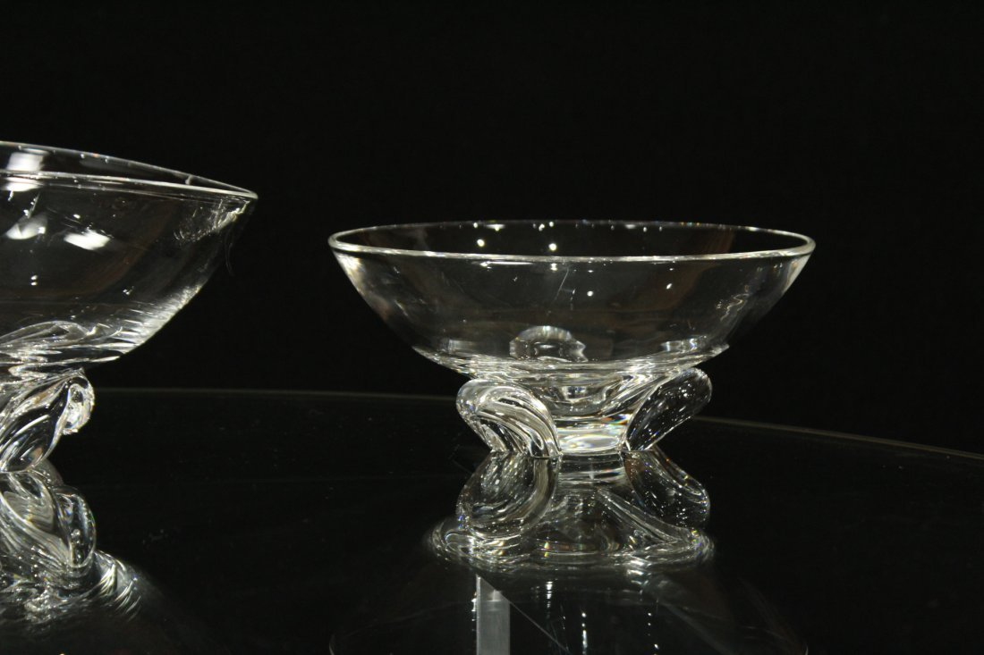 3 ASSORTED STEUBEN GLASS CANDY BOWLS - 5