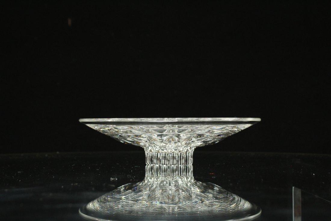 STEUBEN GLASS PEDESTAL BASE CENTER BOWL - 4