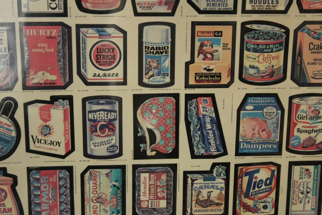 1979 TOPPS CHEWING GUM UN-CUT SHEET GARBAGE PAIL CARDS - 4