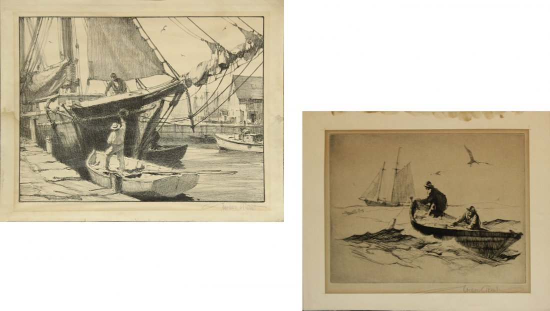 GORDON GRANT Listed American TWO [2] ETCHINGS SIGNED