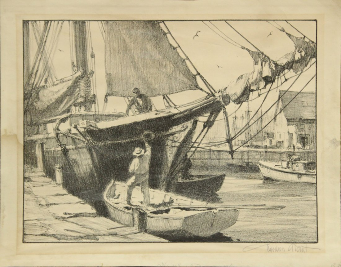 GORDON GRANT Listed American TWO [2] ETCHINGS SIGNED - 2