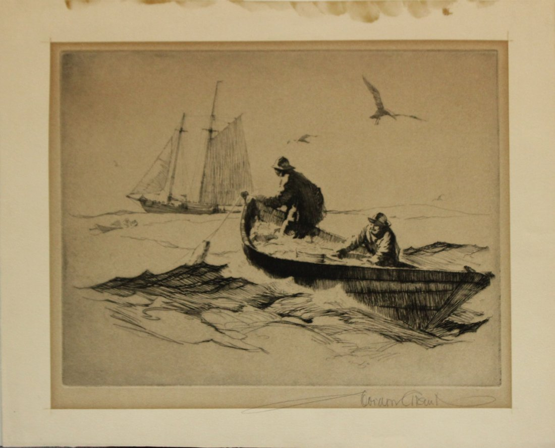 GORDON GRANT Listed American TWO [2] ETCHINGS SIGNED - 4