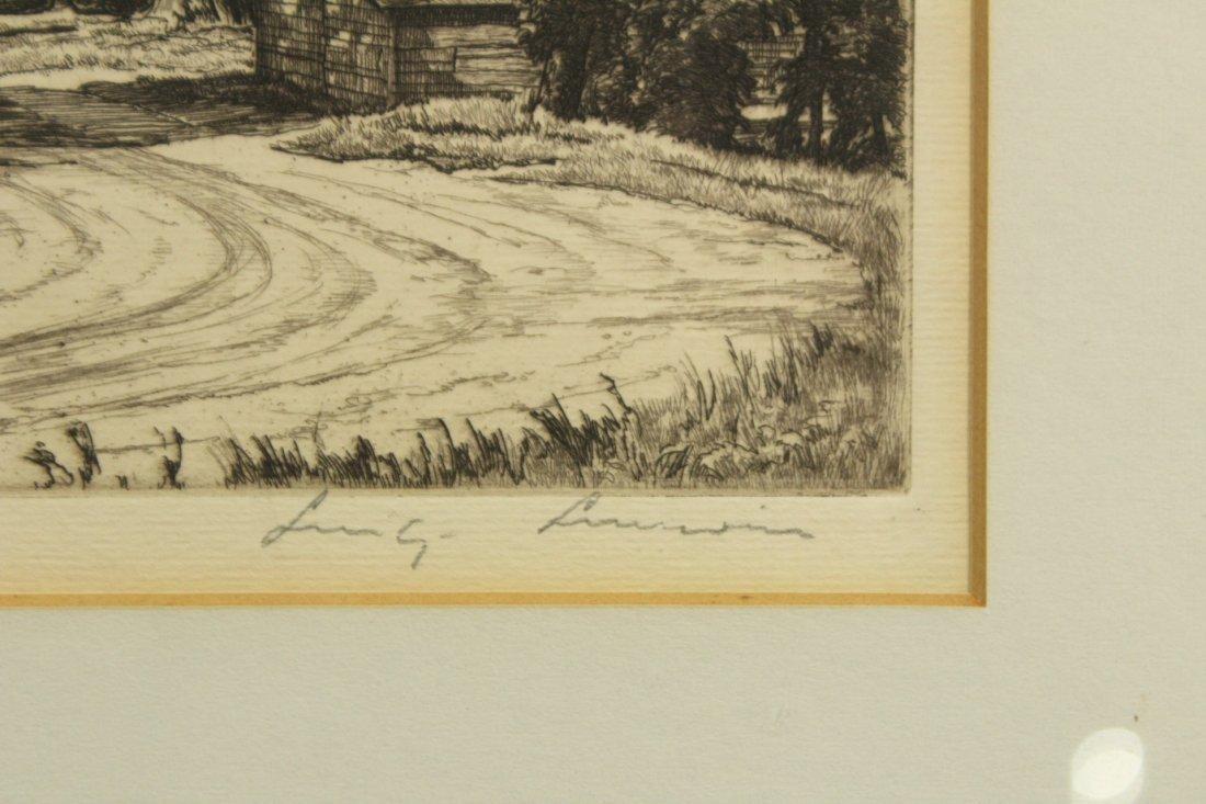 LUIGI LUCIONI - ROUTE 7 Signed Original Etching, Framed - 2