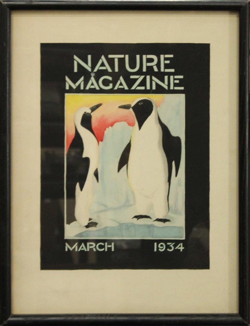ORIGINAL 1934 ILLUSTRATION WATERCOLOR NATURE MAGAZINE