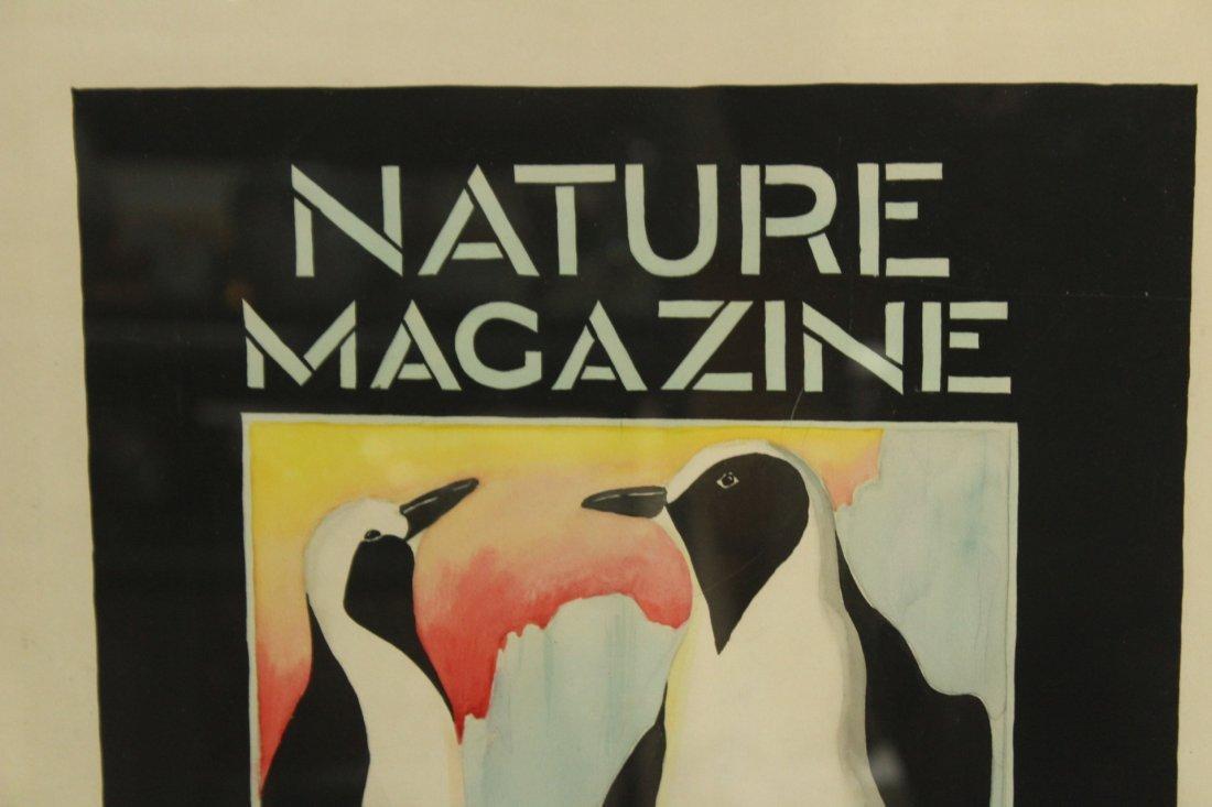 ORIGINAL 1934 ILLUSTRATION WATERCOLOR NATURE MAGAZINE - 2