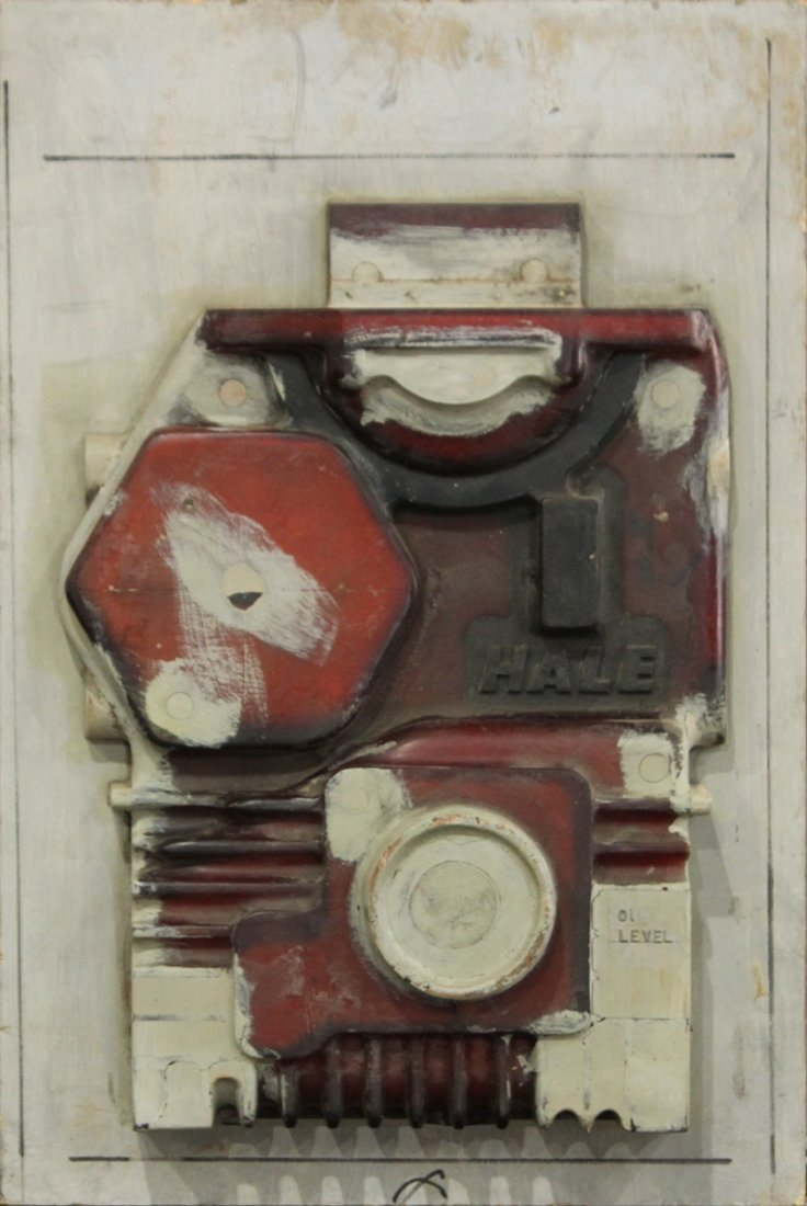 Wood INDUSTRIAL MACHINE AGE WALL SCULPTURE