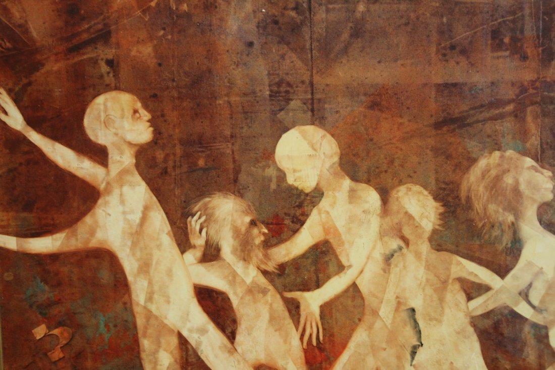 B KOVACS, OIL/B IMPORTANT HOLOCAUST SURVIVOR PAINTING - 3
