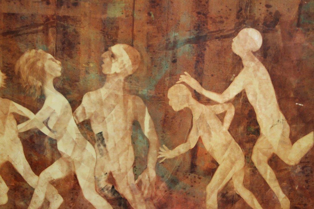 B KOVACS, OIL/B IMPORTANT HOLOCAUST SURVIVOR PAINTING - 4