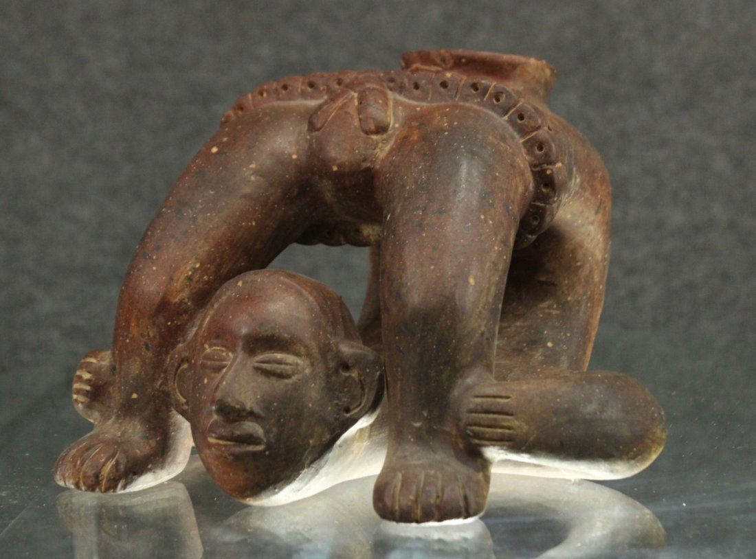 SOUTH AMERICAN REDWARE POTTERY FIGURE