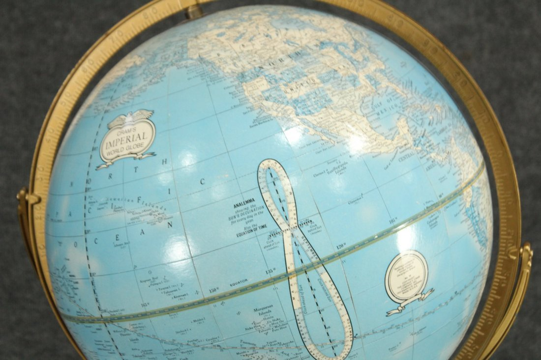 IMPERIAL WORLD GLOBE ON ATLAS BOOK BASE 16 in. Diameter - 3