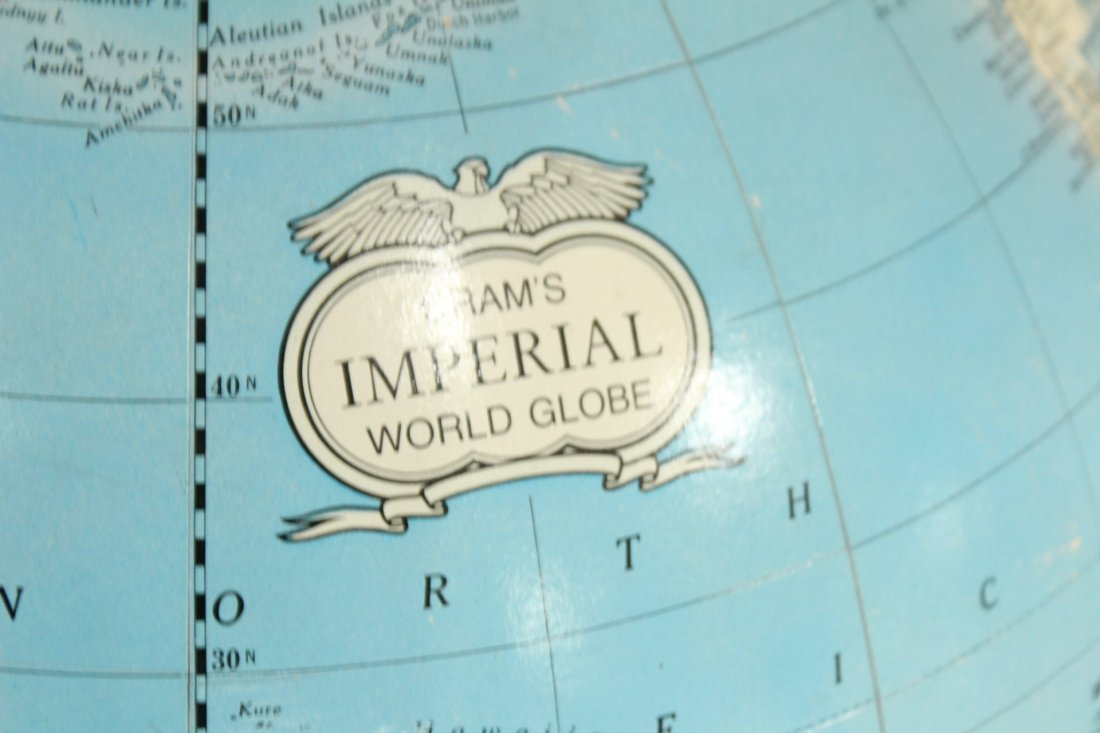 IMPERIAL WORLD GLOBE ON ATLAS BOOK BASE 16 in. Diameter - 4