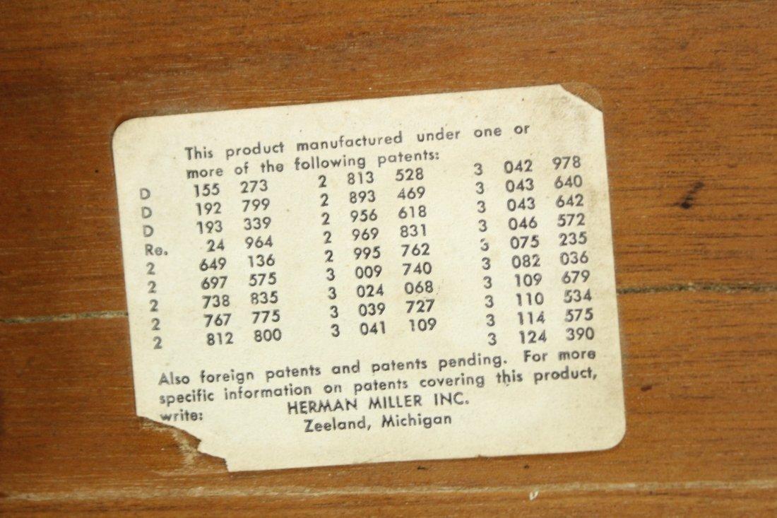 HERMAN MILLER EAMES DCM CHAIR Original Label - 8