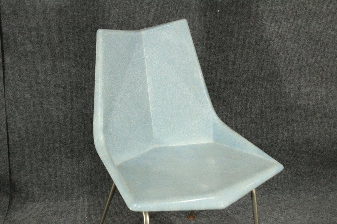 Paul McCobb Origami Blue Faceted Fiberglass Chair - 2