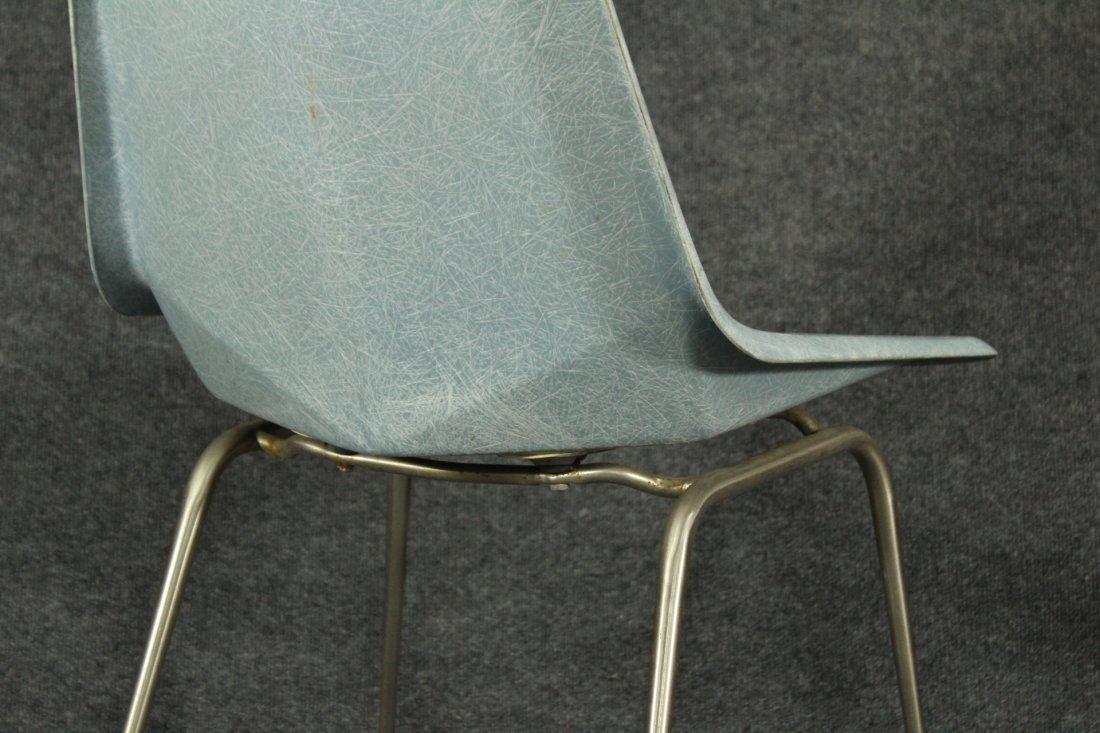 Paul McCobb Origami Blue Faceted Fiberglass Chair - 3