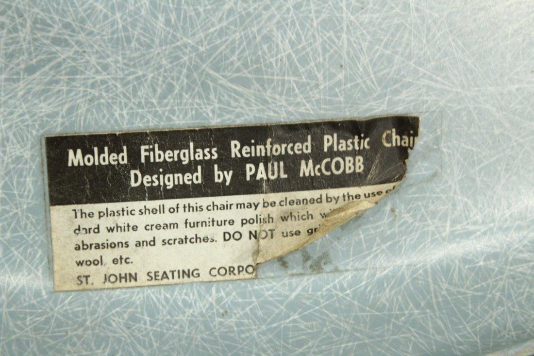 Paul McCobb Origami Blue Faceted Fiberglass Chair - 4