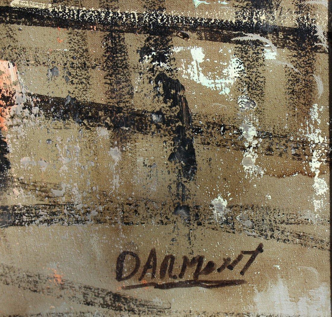 DARMONT - FABULOUS FRENCH PARISIAN STREET OIL ON CANVAS - 3