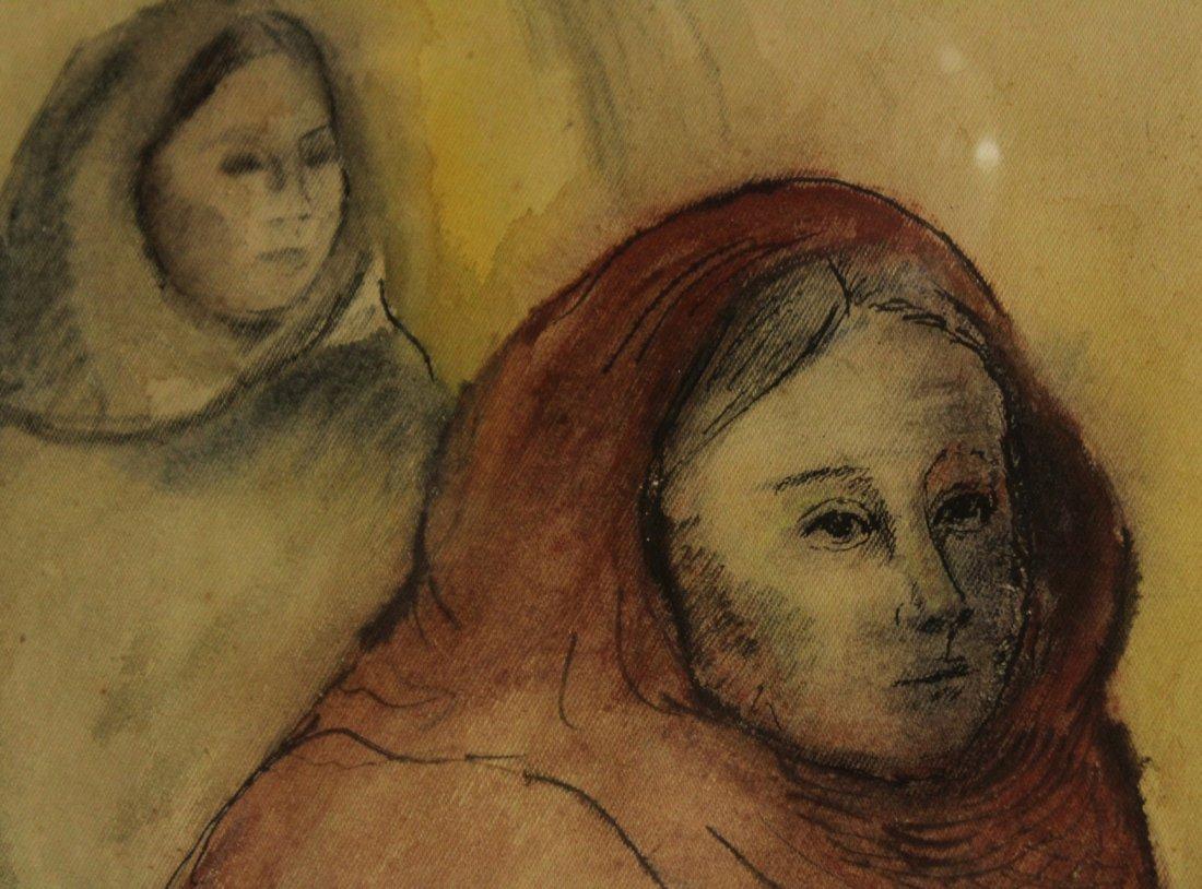 LOUISA CARSON, Watercolor, TWO WOMEN IN HOODED ATTIRE - 3