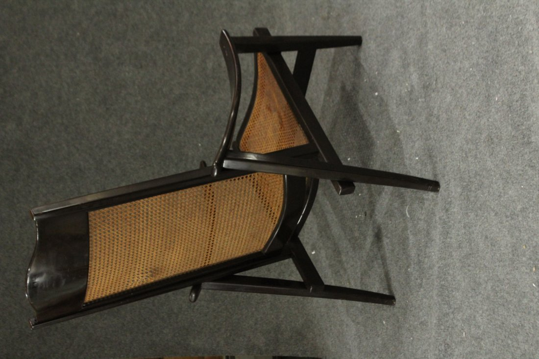 Mid-century Modern tall back lounge chairs - 4