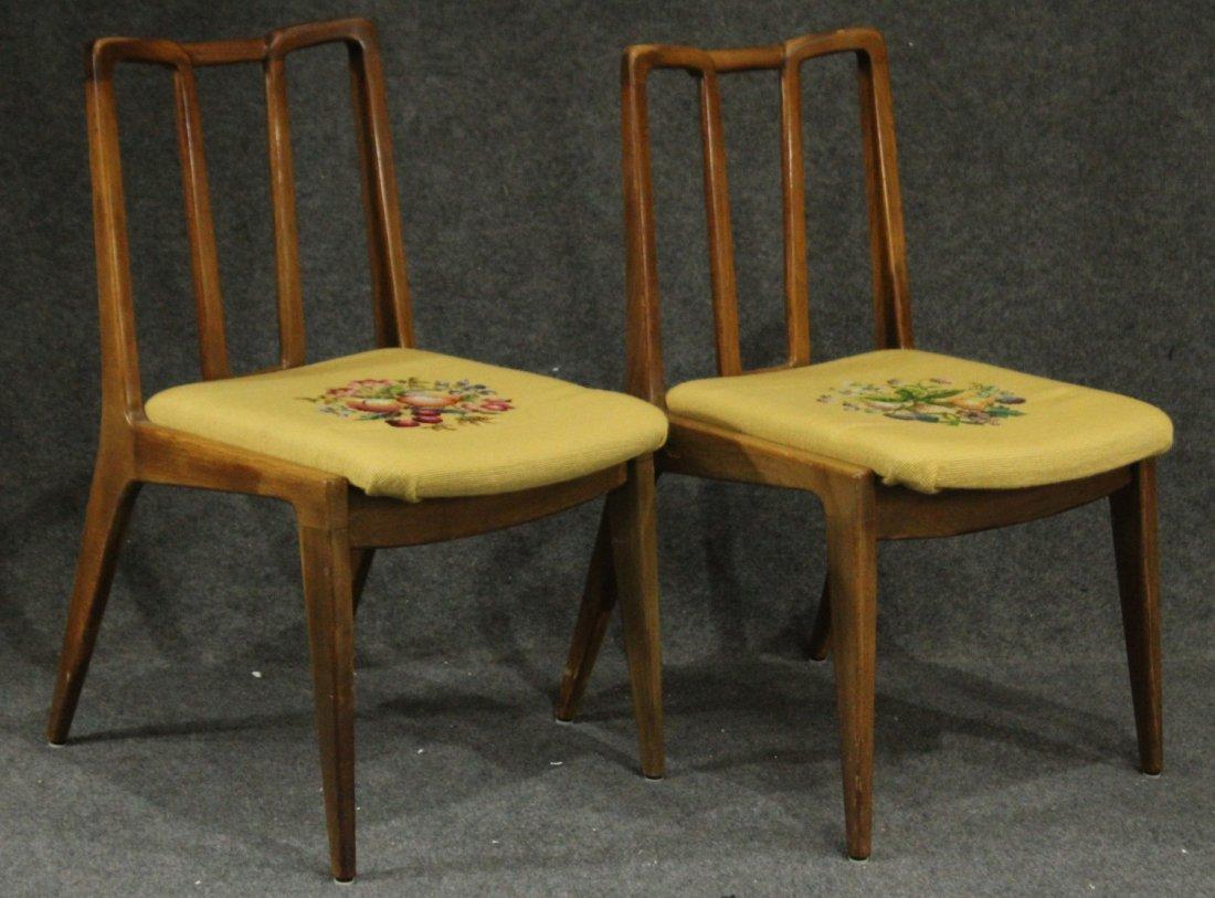 Mid-century Modern John Stuart dining arm chairs