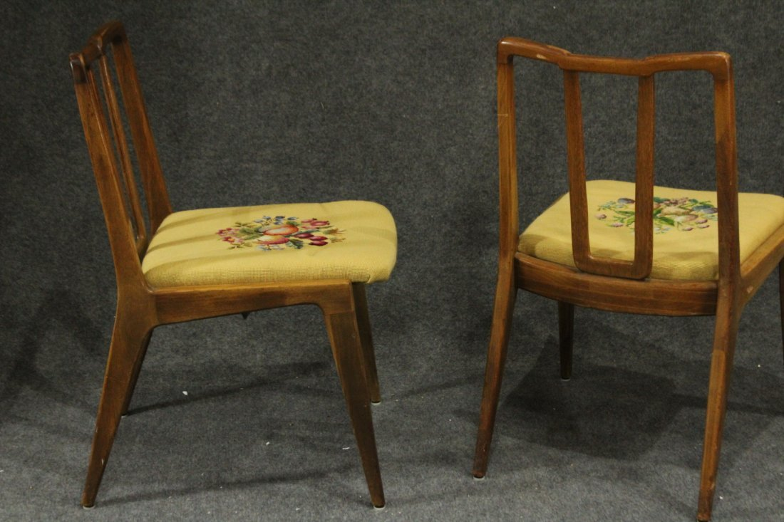 Mid-century Modern John Stuart dining arm chairs - 5