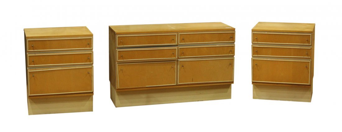 Mid-century Modern dresser set with end tables