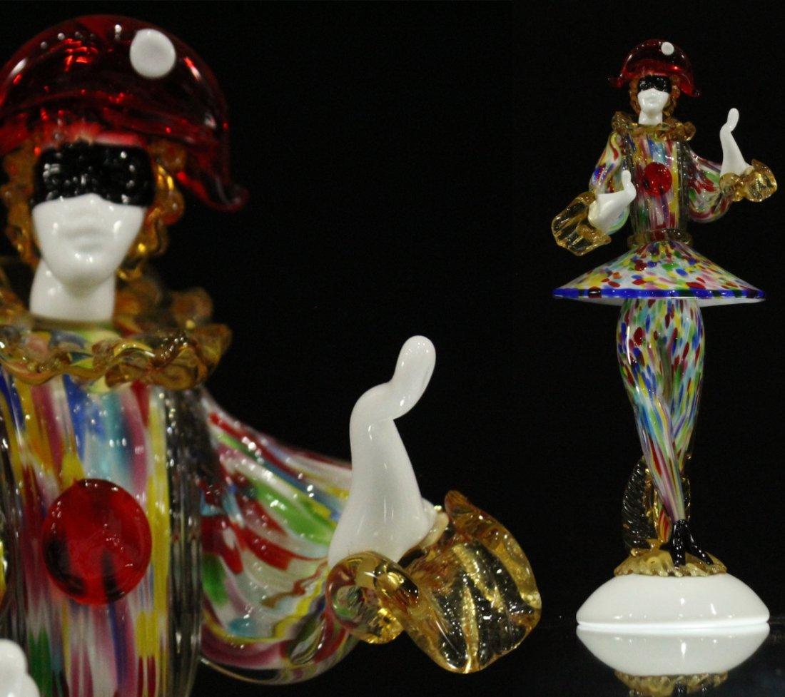 Vintage Murano glass clown hand blown