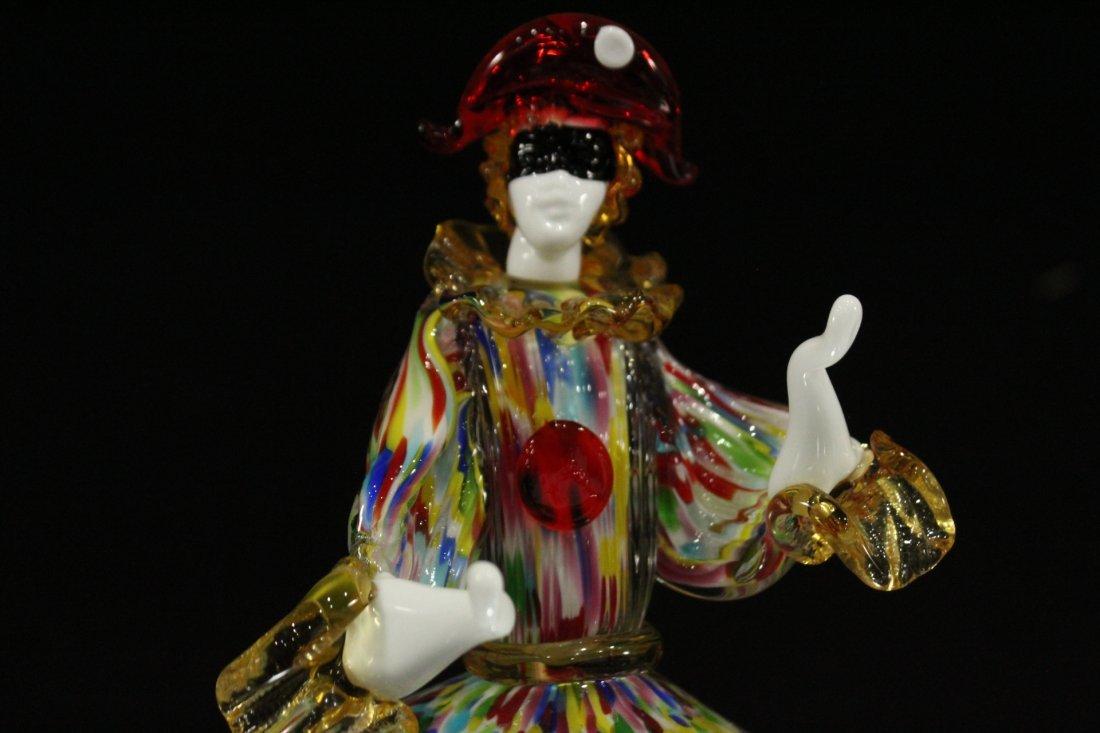 Vintage Murano glass clown hand blown - 2