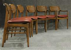 Set 6 Mid Century Danish Modern Teak Dining Chairs