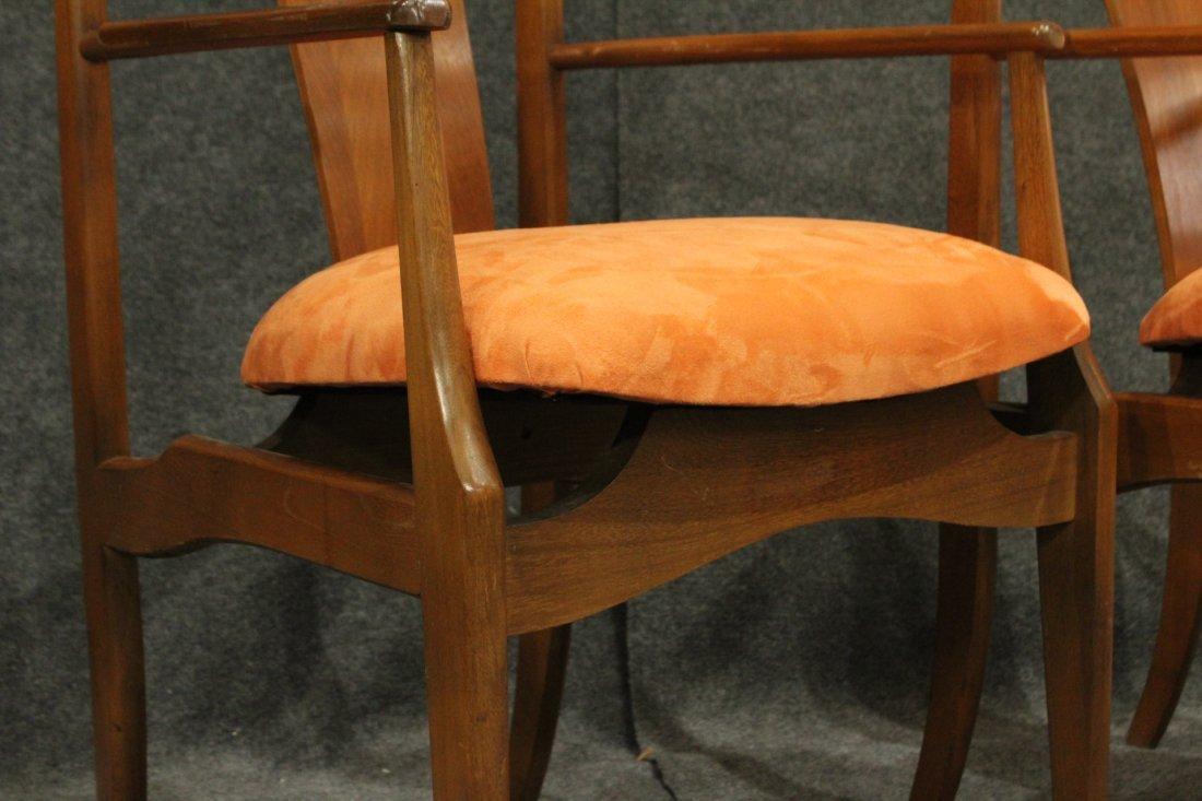 Pair Mid-Century Modern High Back Danish Arm Chairs - 2