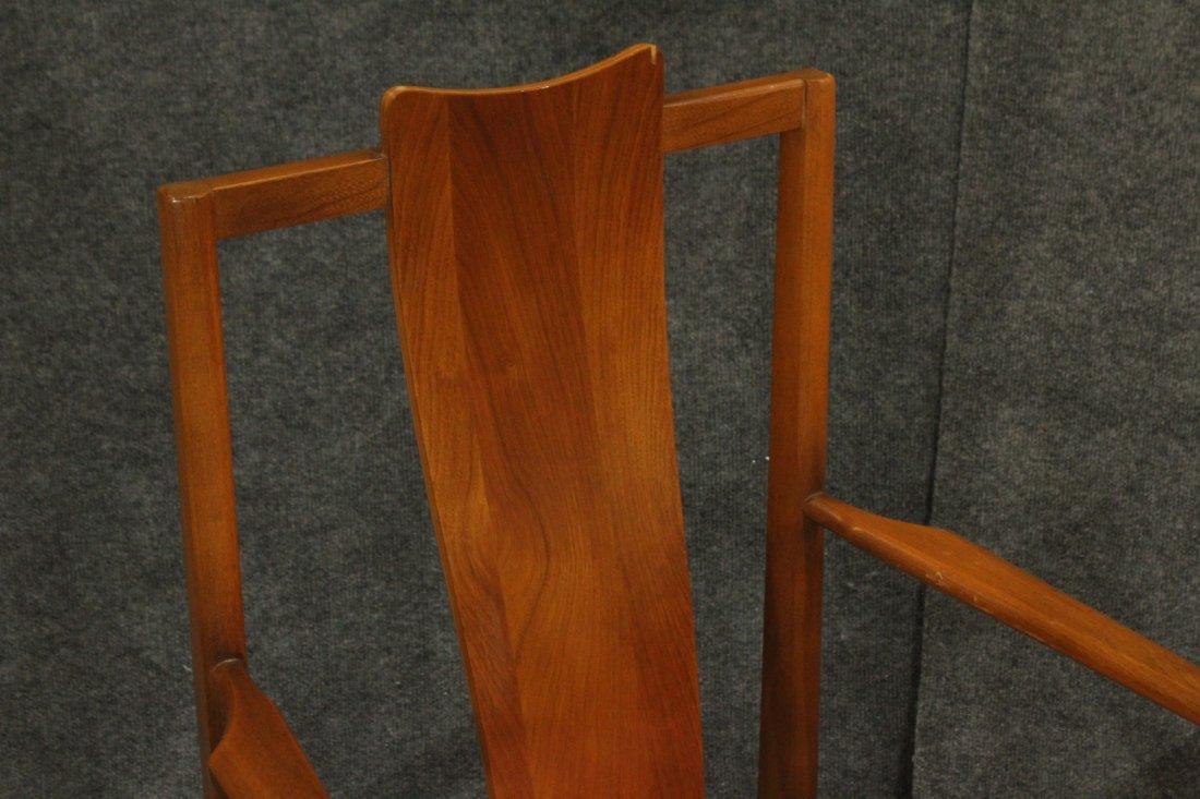 Pair Mid-Century Modern High Back Danish Arm Chairs - 3