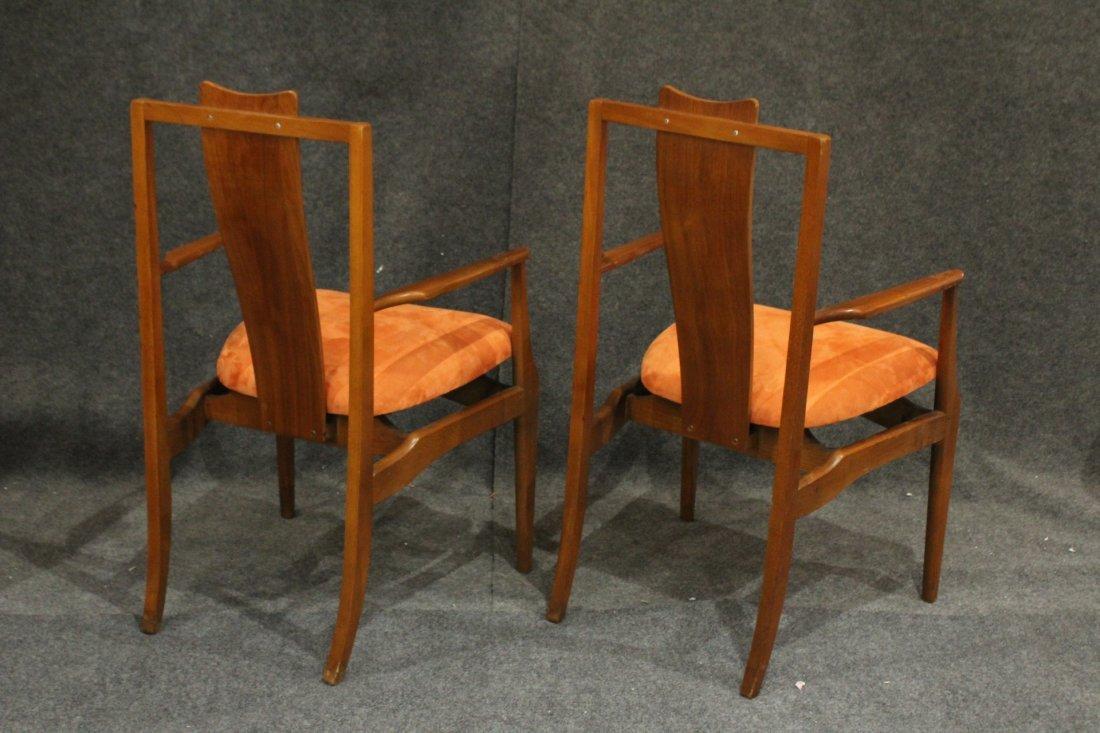 Pair Mid-Century Modern High Back Danish Arm Chairs - 5