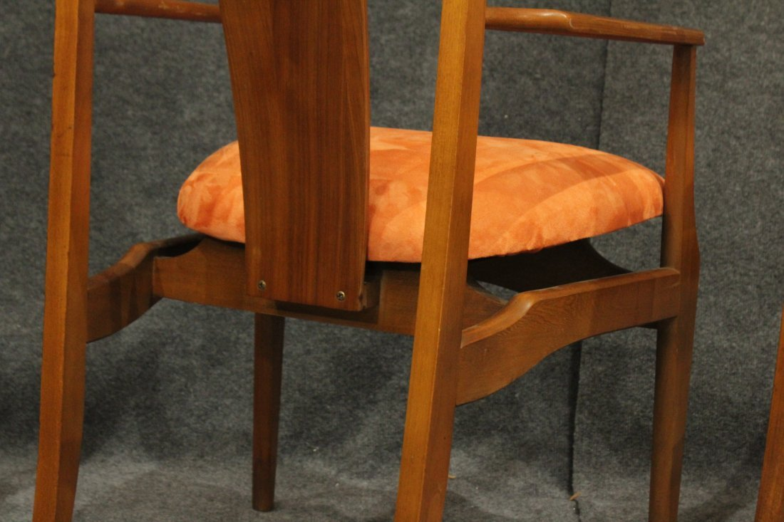 Pair Mid-Century Modern High Back Danish Arm Chairs - 6