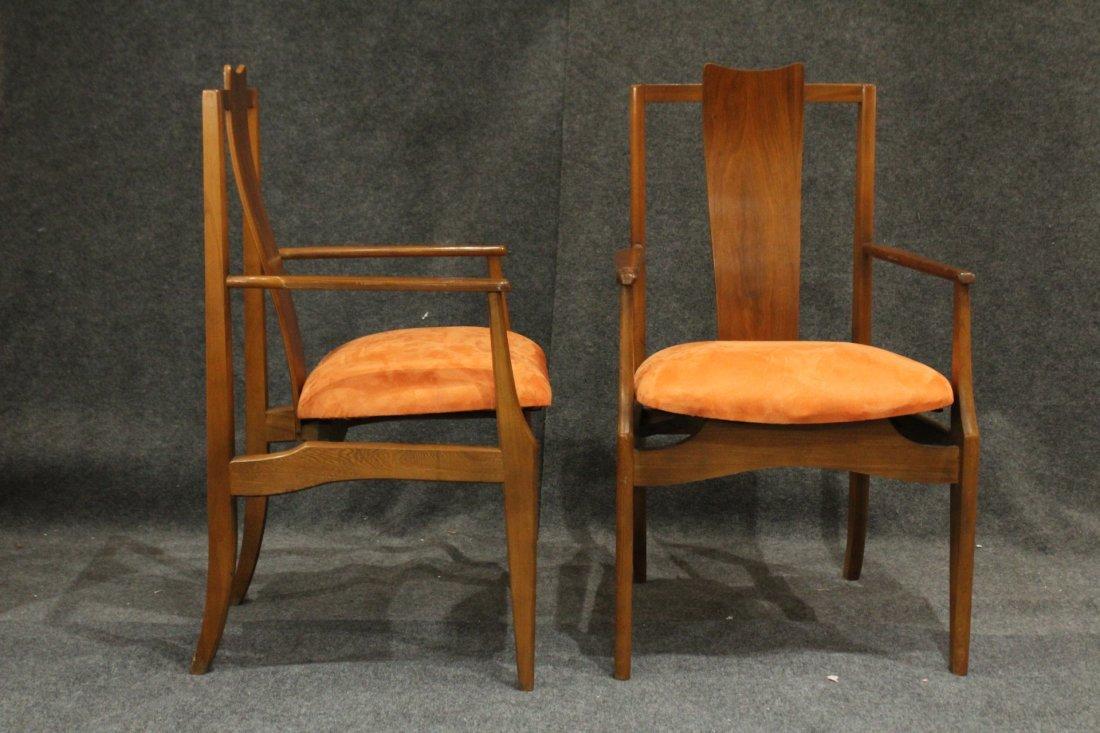 Pair Mid-Century Modern High Back Danish Arm Chairs - 7