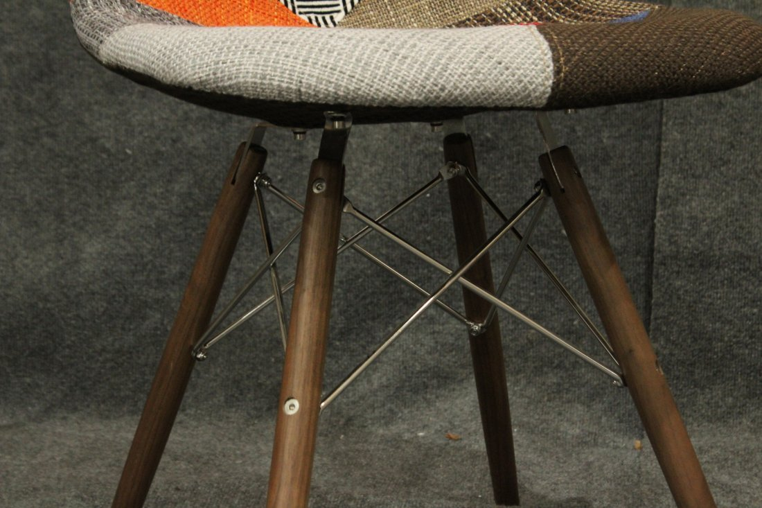 Pair Eames Style Eiffel Tower Base Chairs, Later - 4