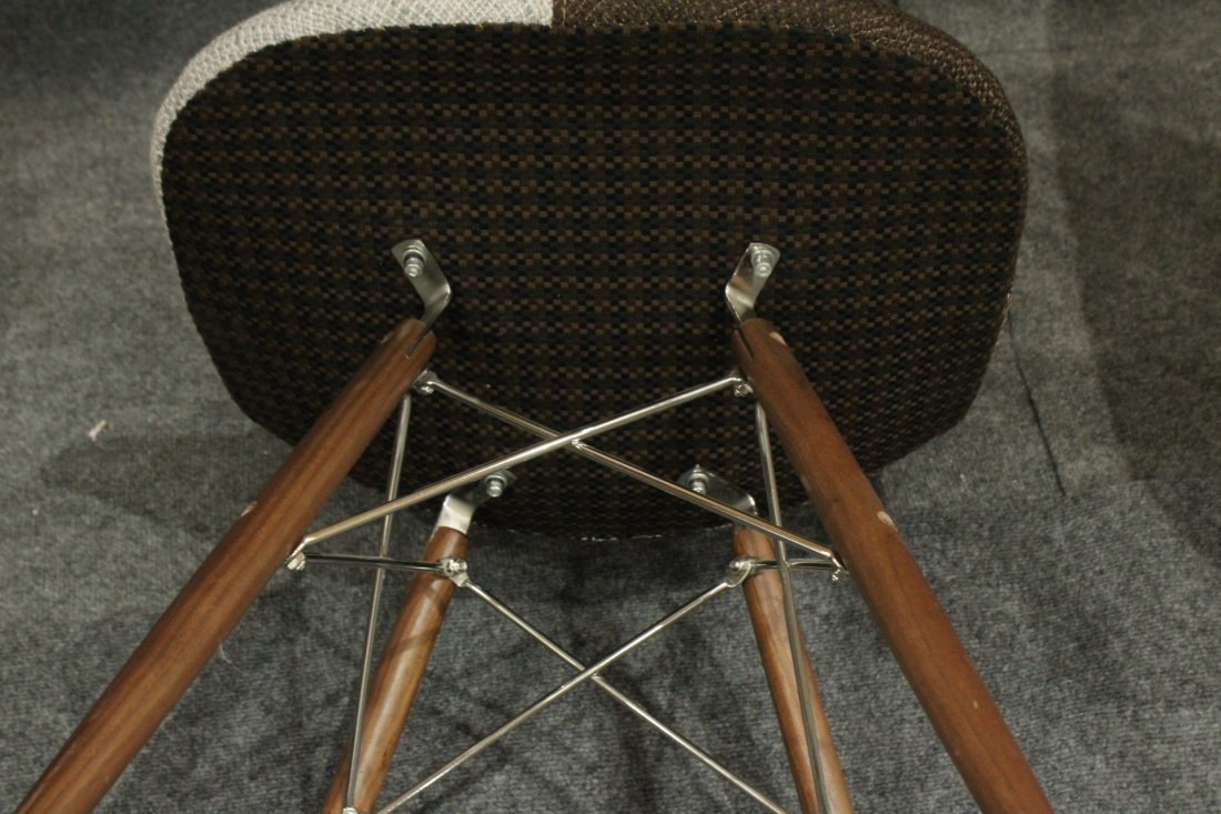 Pair Eames Style Eiffel Tower Base Chairs, Later - 5