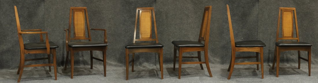 Set 6 Mid Century Danish Modern Design Dining Chairs