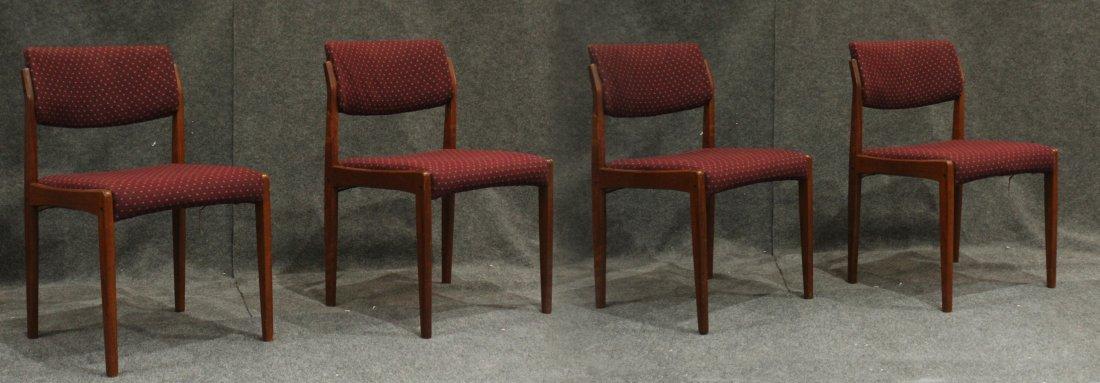 Bramin Denmark Set 4 Danish Mid-Century Modern Chairs