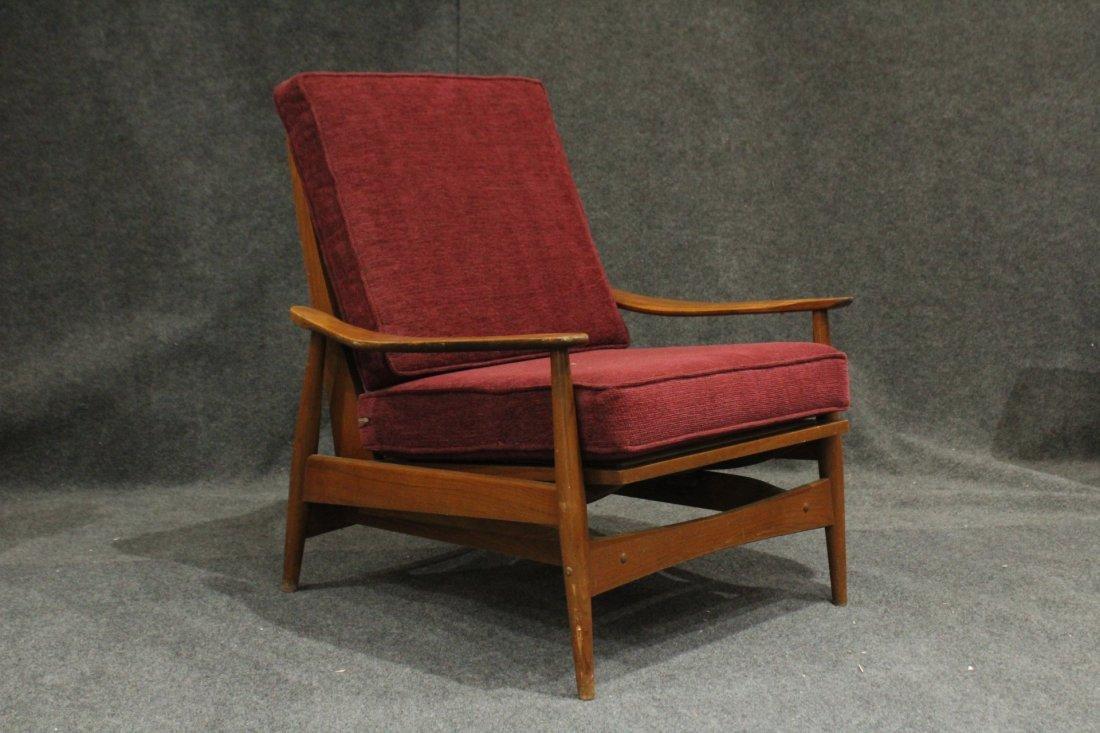 Quality Mid-Century Modern Teak Curved Arm Lounge Chair
