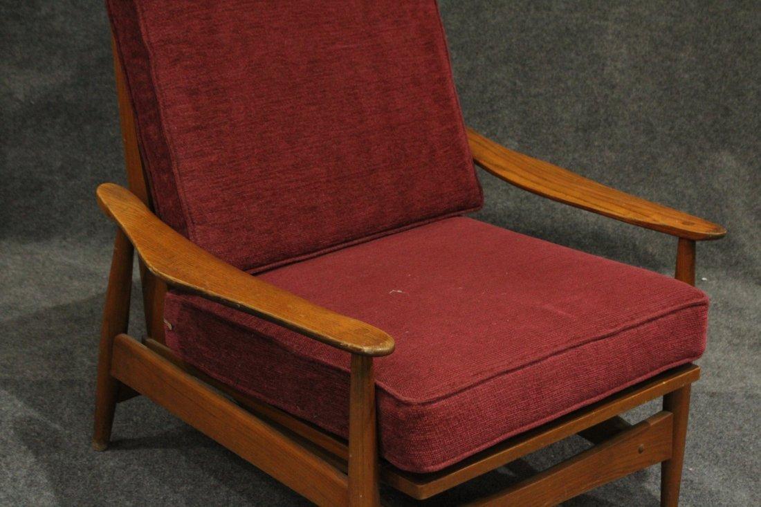 Quality Mid-Century Modern Teak Curved Arm Lounge Chair - 2