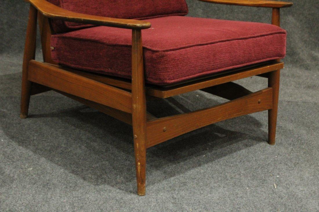 Quality Mid-Century Modern Teak Curved Arm Lounge Chair - 3