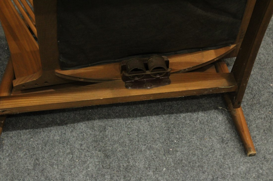 Quality Mid-Century Modern Teak Curved Arm Lounge Chair - 7