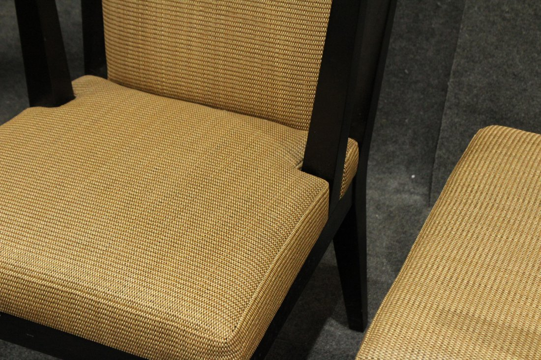 Pair Mid-Century Modern Black Ebony Fire Side Chairs - 3