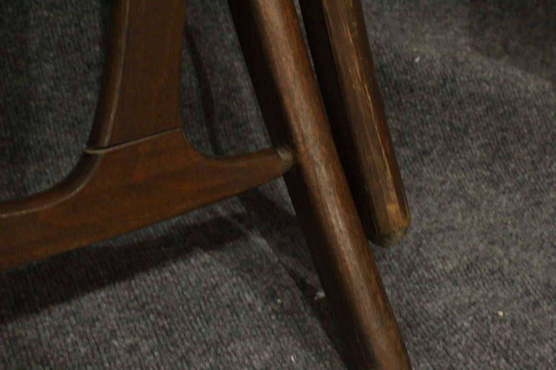 Pair Rope Cord & Wood Folding Chairs Hans Wegner Style - 7