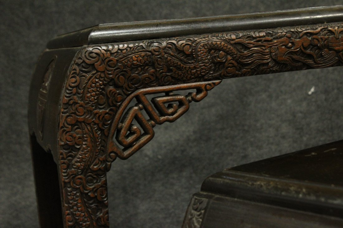 Carved Asian Oriental Nest of Tables - 2