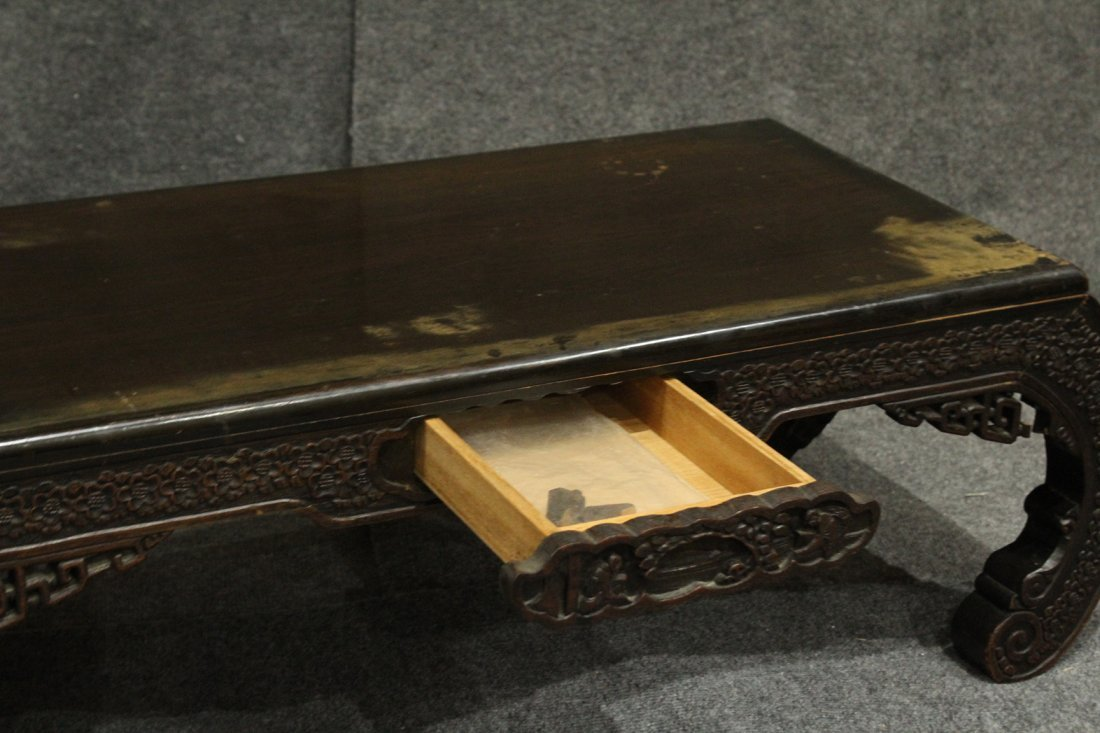 Carved Asian Oriental Opium Low Table - 2