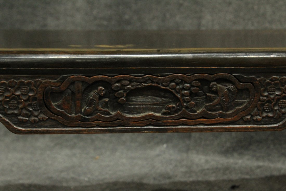 Carved Asian Oriental Opium Low Table - 4