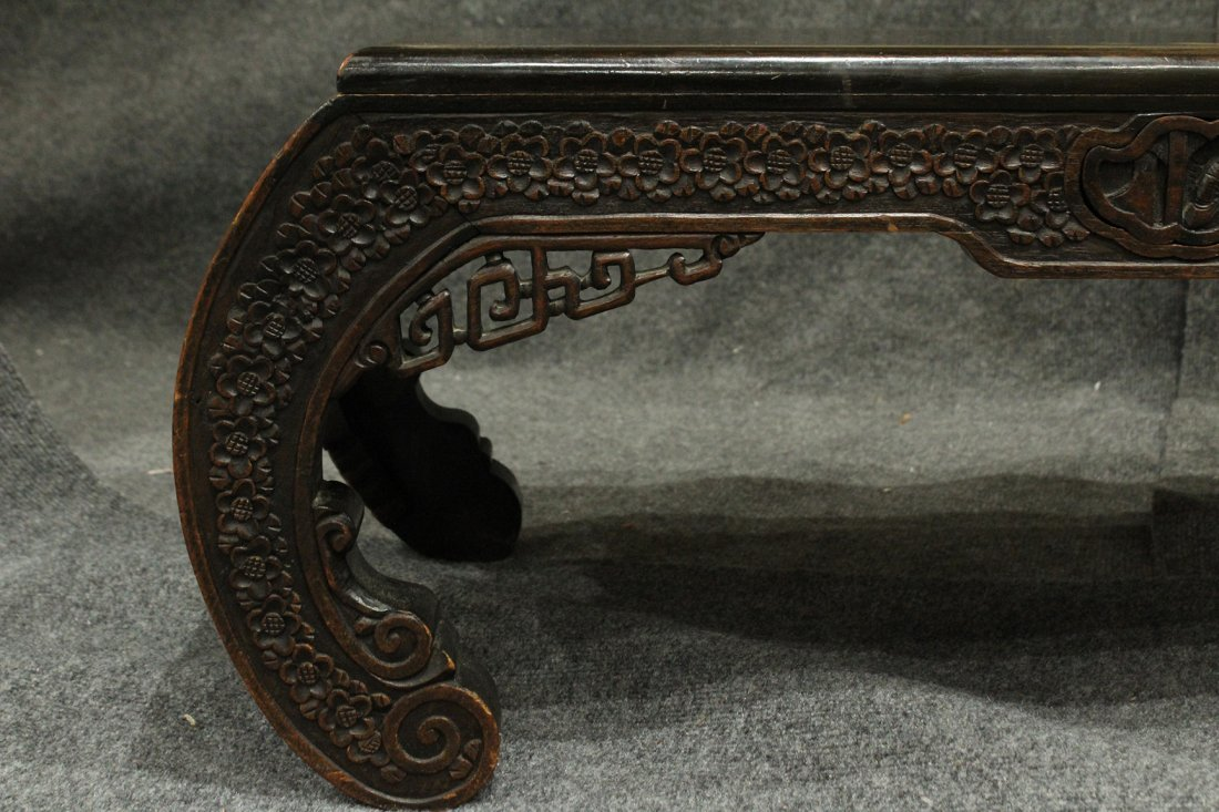 Carved Asian Oriental Opium Low Table - 5